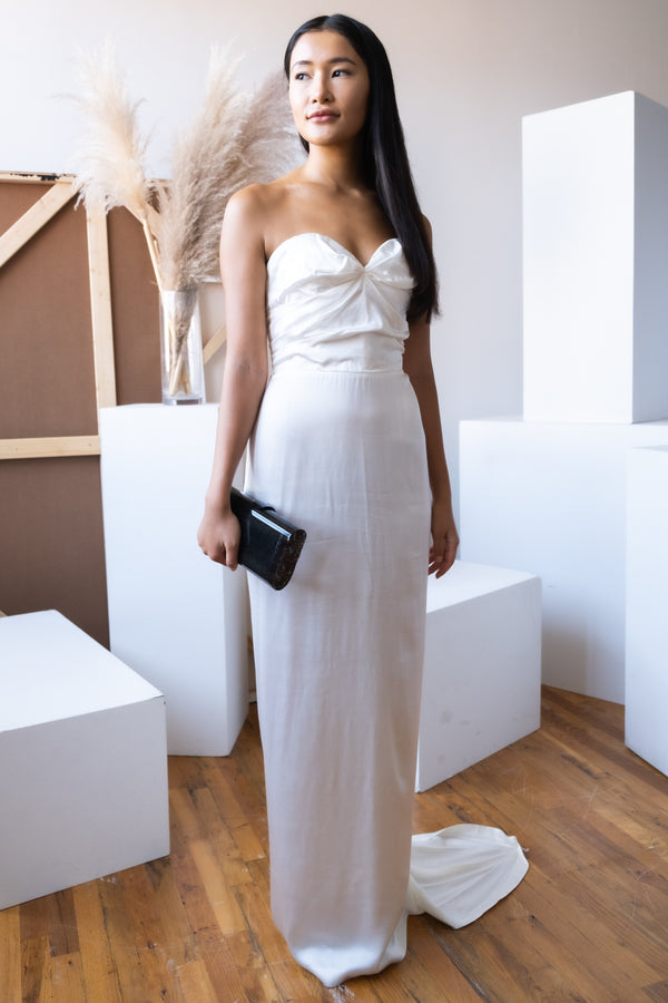 Lanvin White Silk Gown