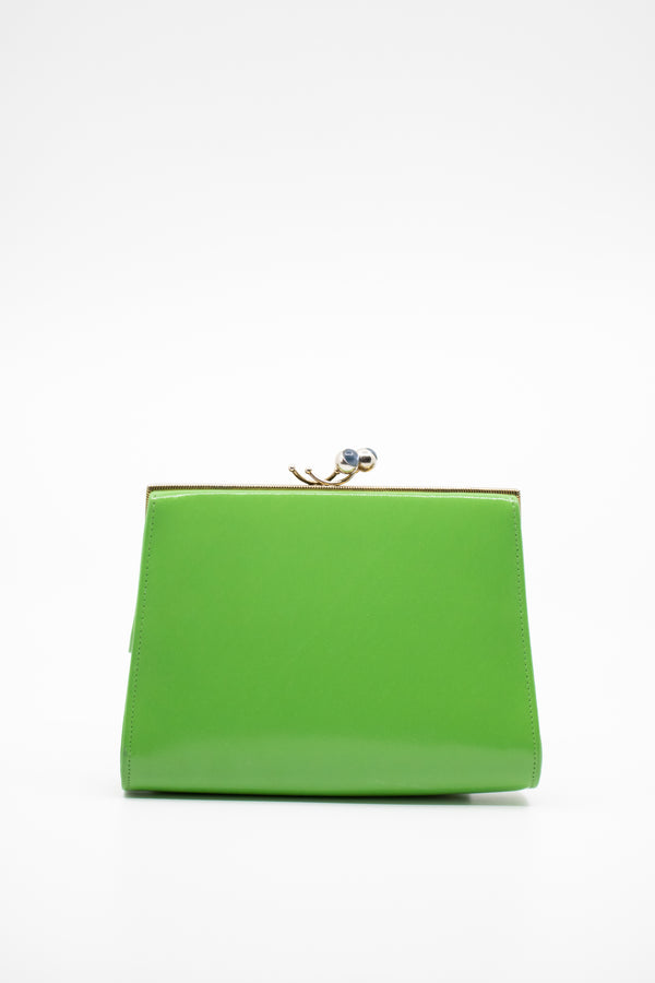 Vintage Kelly Green Clutch