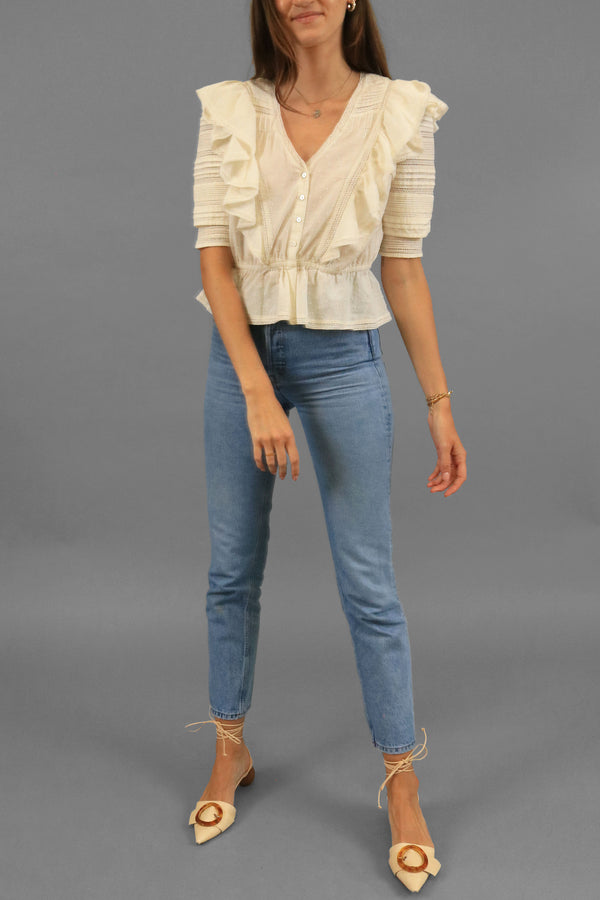 LoveShackFancy Ruffled Top