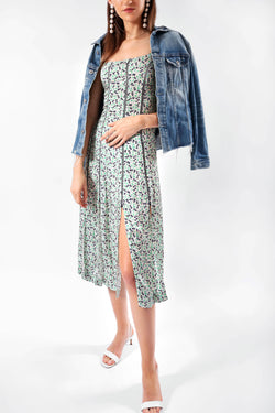 Alexa Chung Topstitch Floral Dress | New with Tags