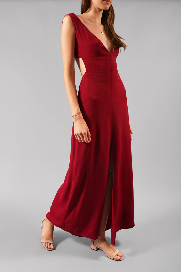 Reformation Open-Back Maxi Dress