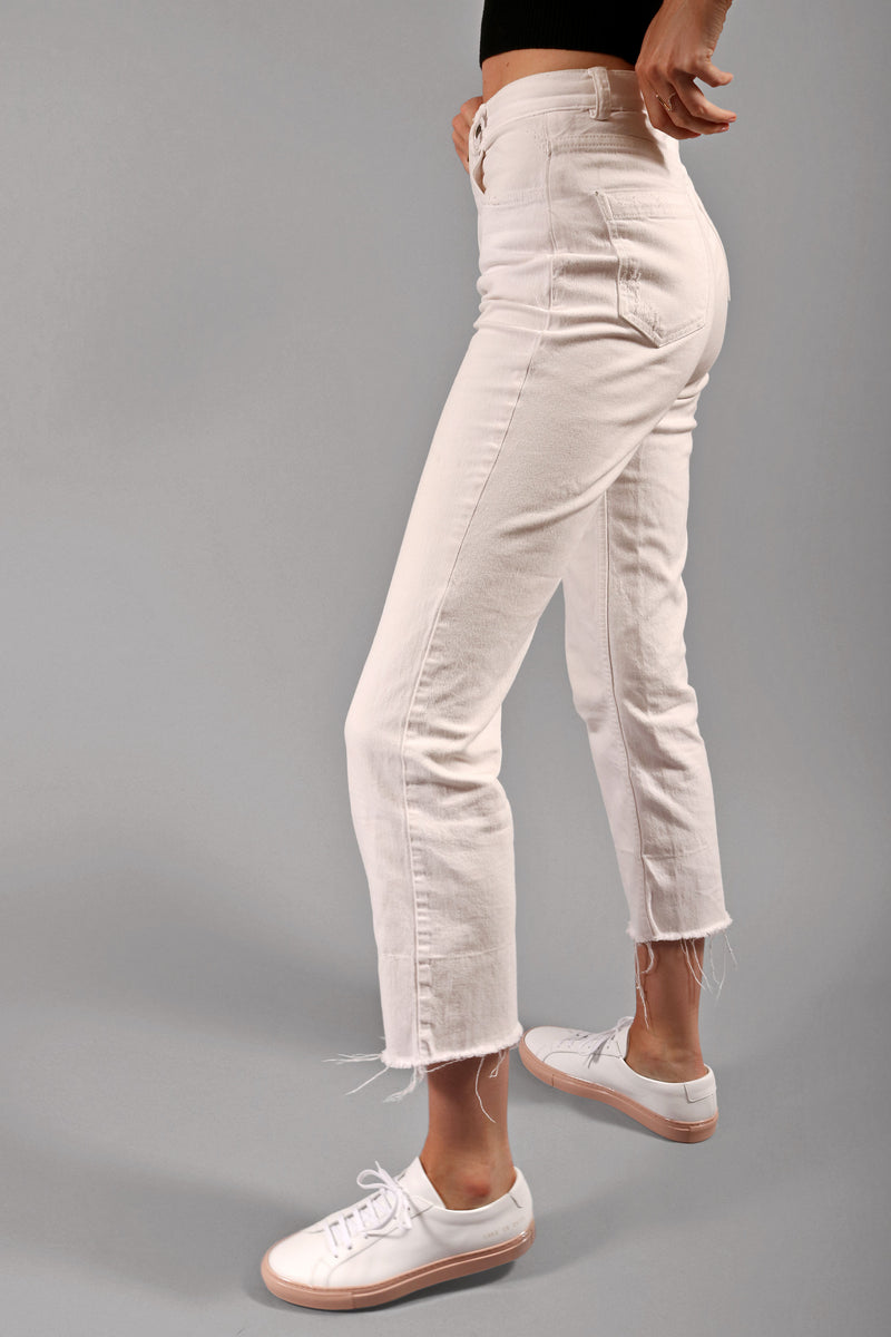 Rachel Comey Ivory Distressed Jeans