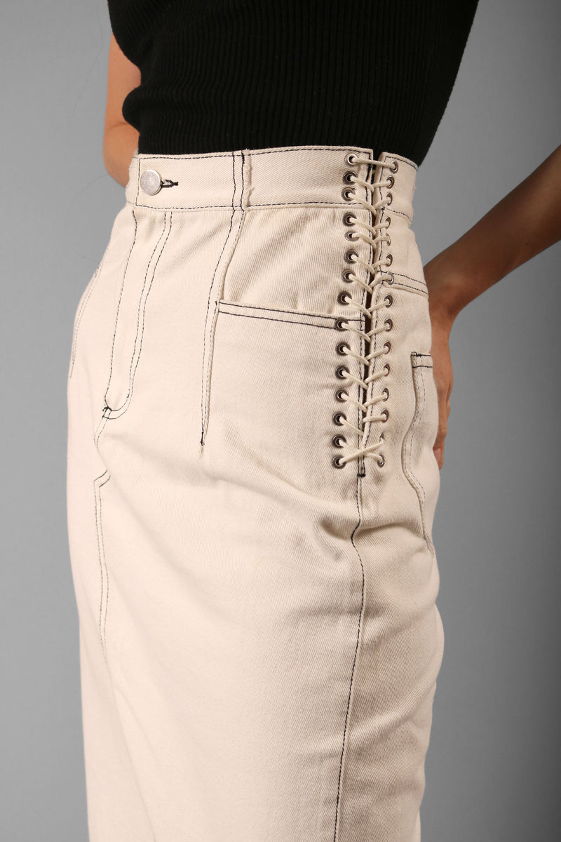 3.1 Phillip Lim Lace-Up Denim Skirt