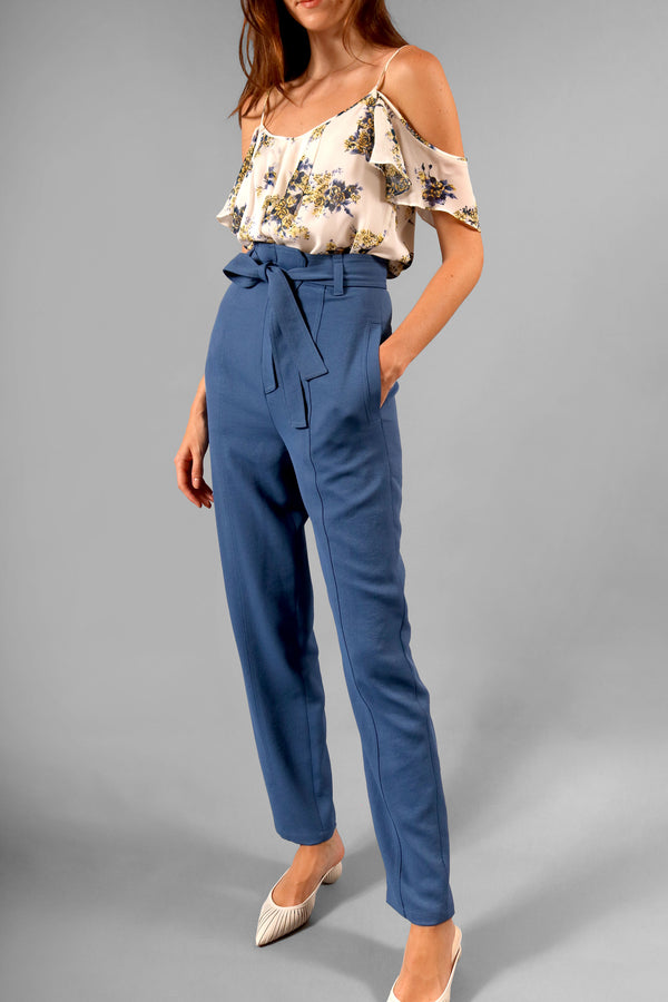 O'2nd Blue Silk Pant