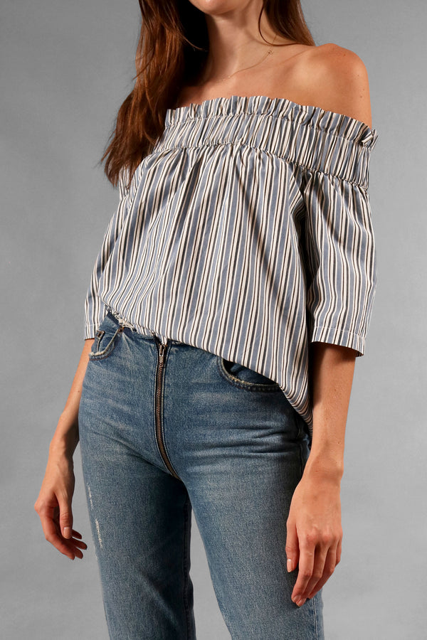 Ganni Off-the-Shoulder Jackson Top (Est. Retail $135)