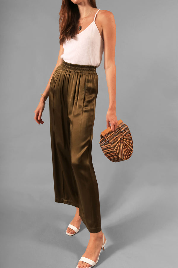 Ganni Satin Wide Leg Pant