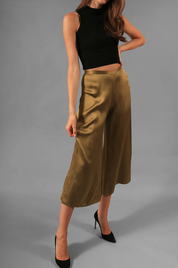Simon Miller Hammered Wide Leg Pants
