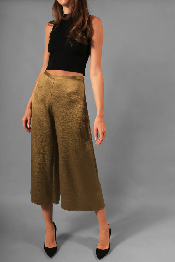 Simon Miller Hammered Satin Wide Leg Pants