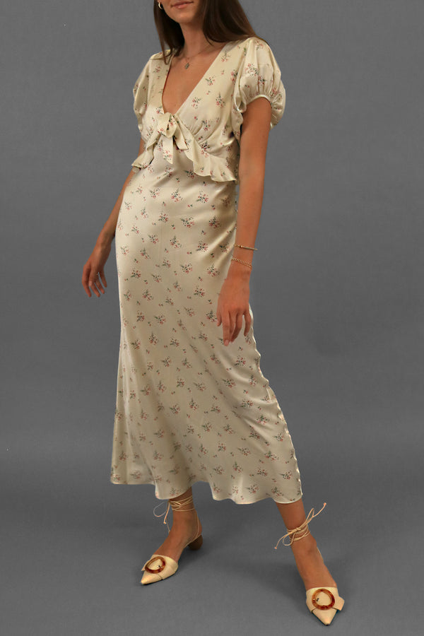 LoveShackFancy Lillian Floral Silk Dress (Est. Retail: $525)