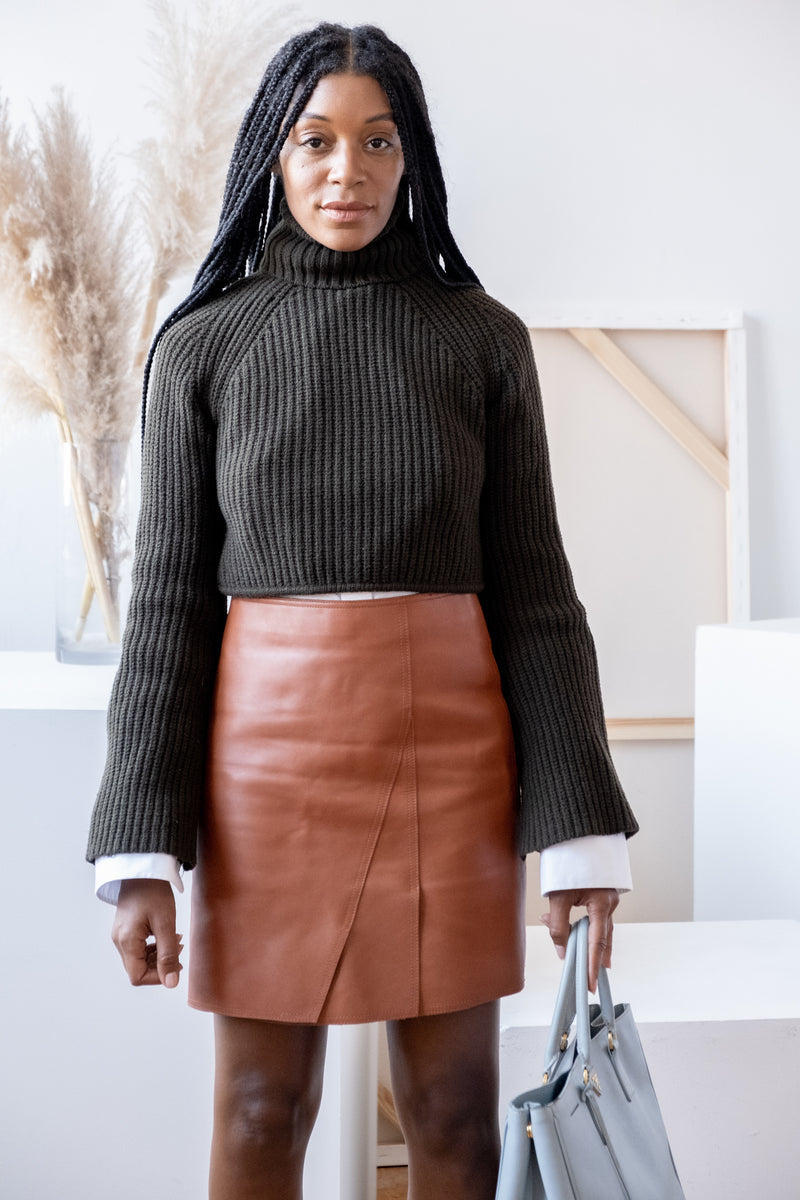 3.1 Phillip Lim Leather Skirt (est. retail $895)