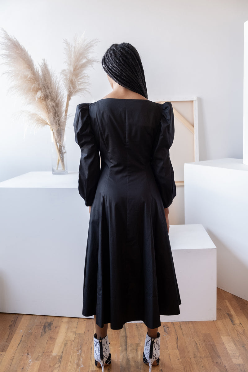 Khaite 'Edwina' Black Long Sleeve Dress | New with tags (est. retail $840)