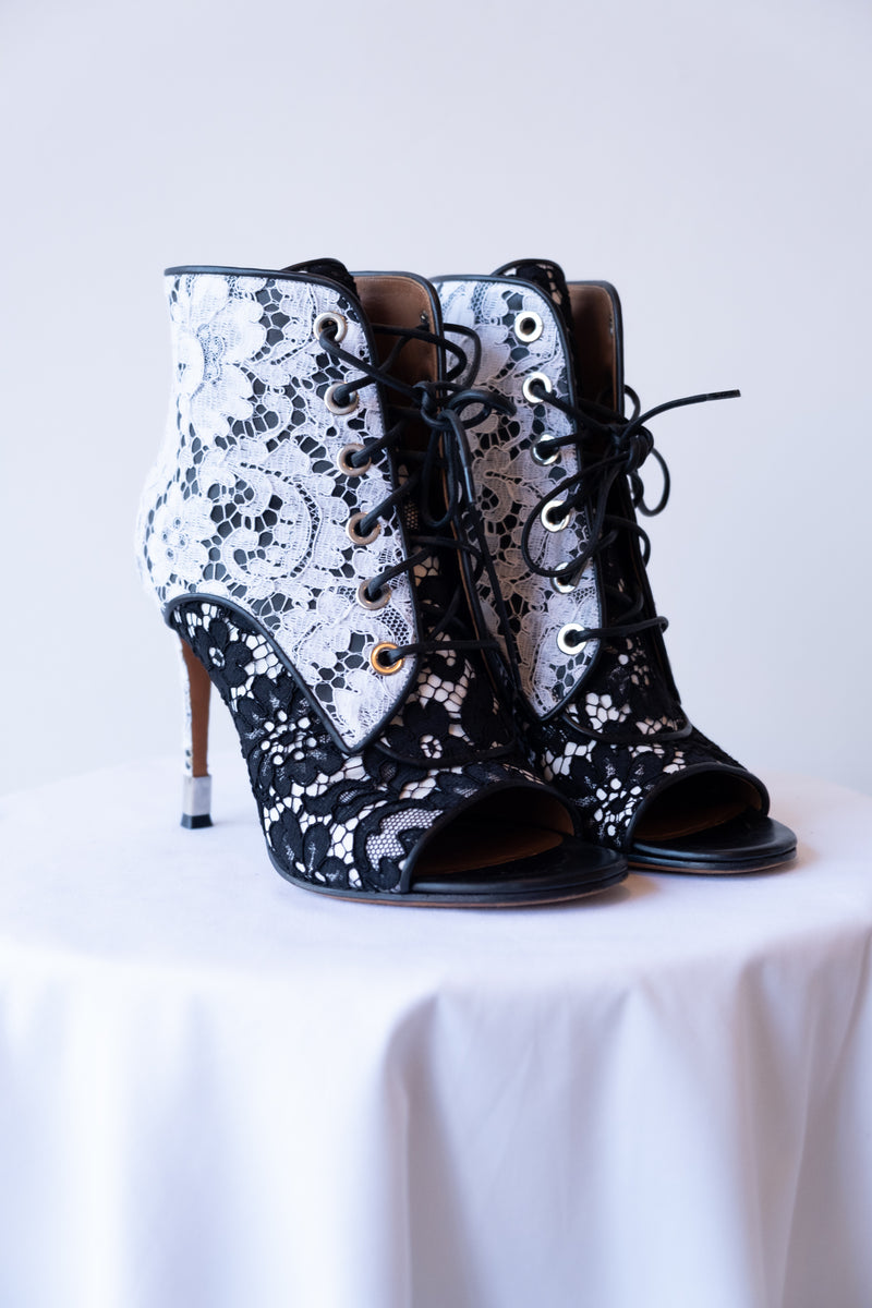 Givenchy Lace Peep Toe Bootie