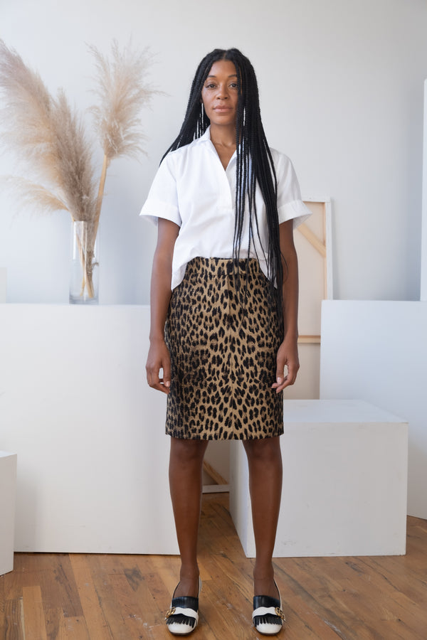 Clements Ribeiro Leopard Pencil Skirt