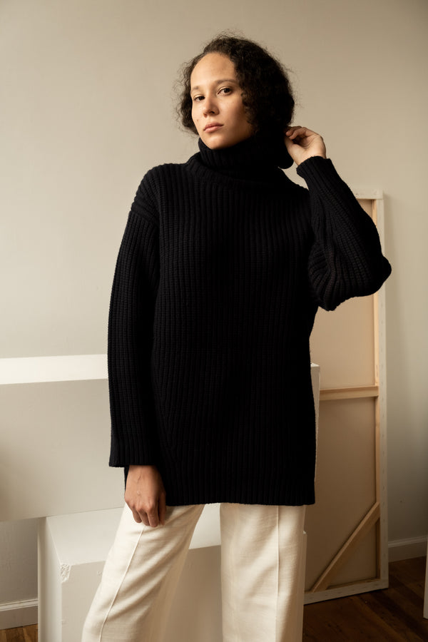 Tory Burch Sport Merino Wool Turtleneck