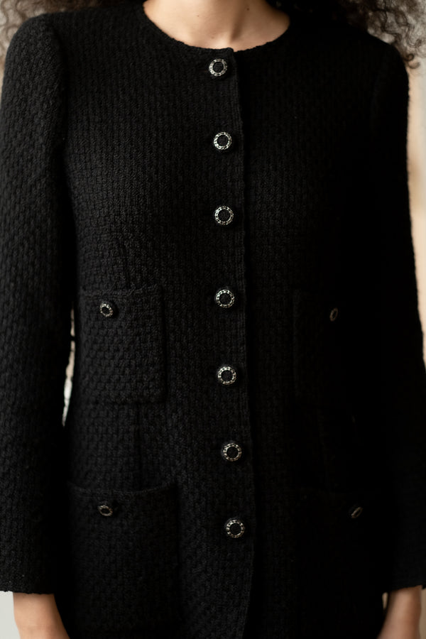 Chanel Black Cardigan Jacket