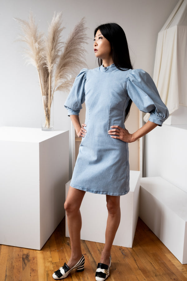 Ganni 'Cult' Denim Dress | new with tags (est. retail $285)