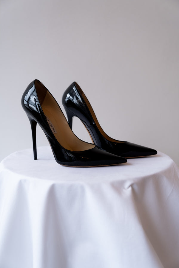 Jimmy Choo Patent Leather Pointed Toe Heels