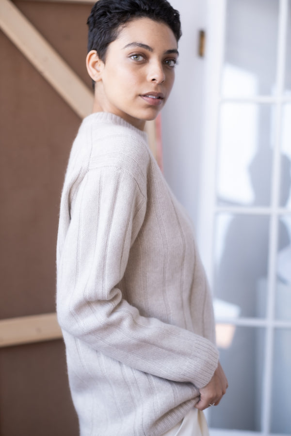 The Row Ribbed Cashmere Sweater