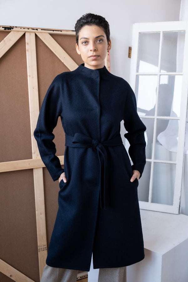Carolina Herrera Navy Cashmere Coat (Est. retail $3,690)