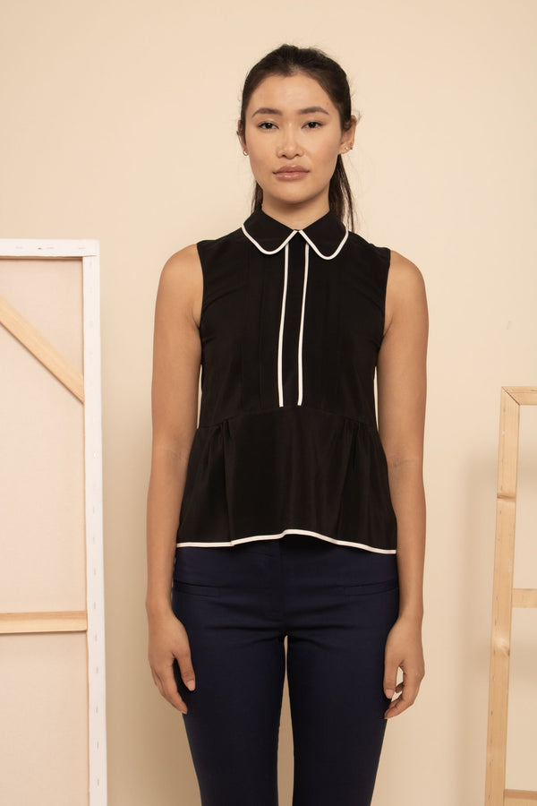 Marni Sleeveless Collared Top