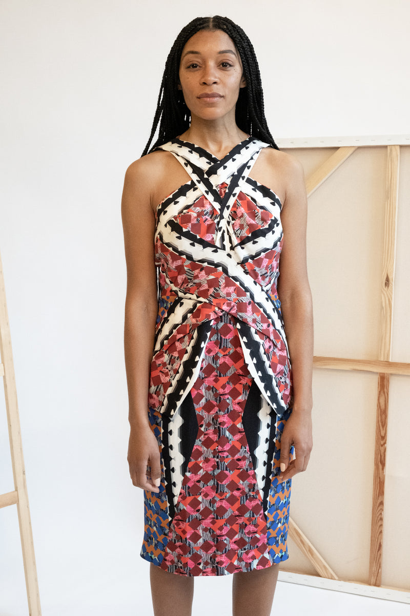 Peter Pilotto Geometric Printed Knee-Length Dress