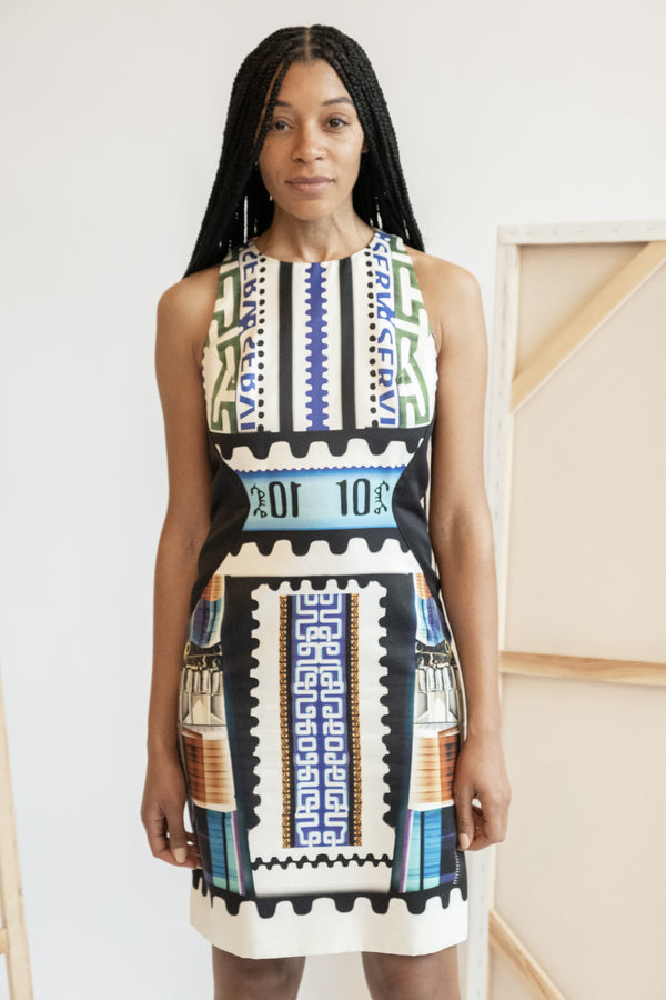 Mary Katrantzou Geometric Printed Mini Dress