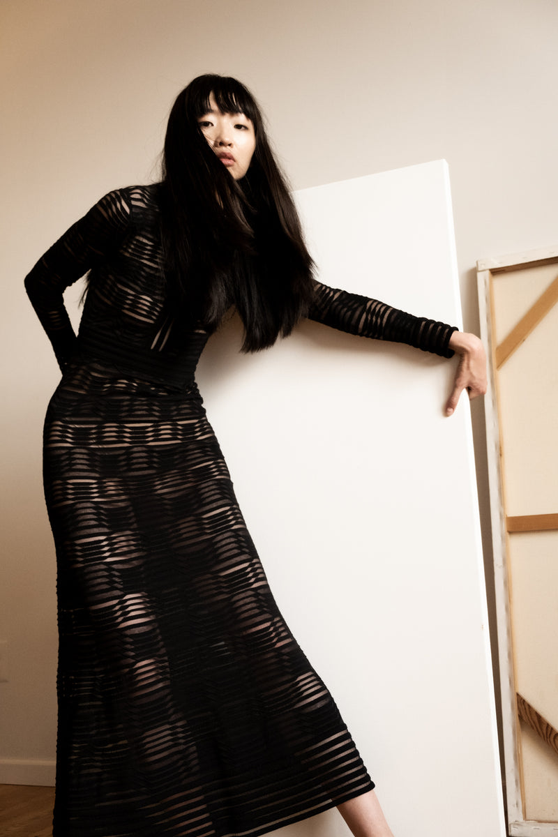 Missoni Black Knit Maxi