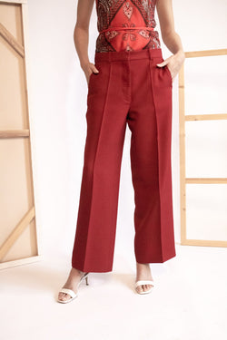Victoria Beckham Pleated Cropped Trousers