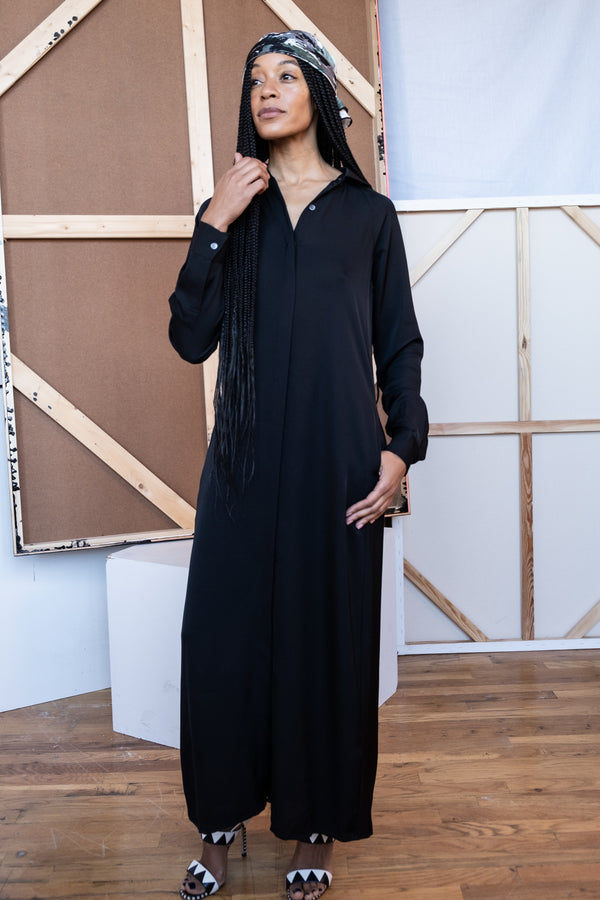 Theory Silk Collared Maxi Dress | New with tags (Est. retail $495)