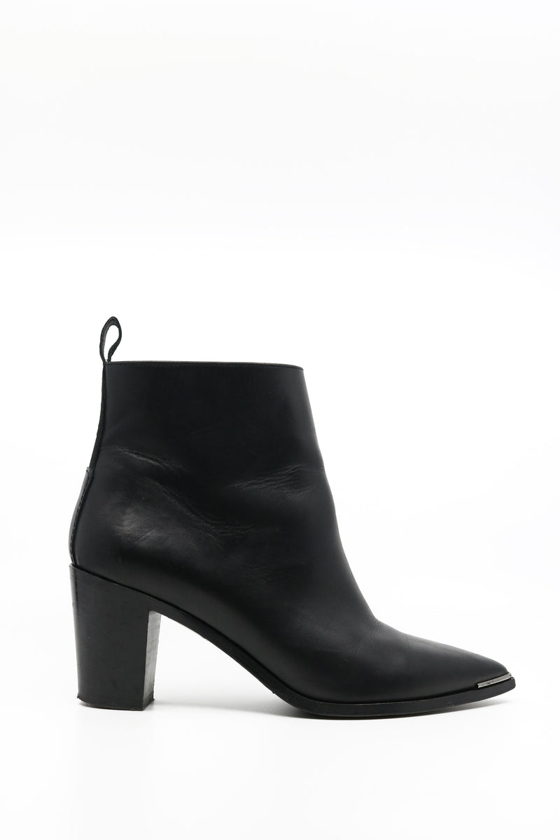 Acne Studios Leather Heeled Ankle Bootie