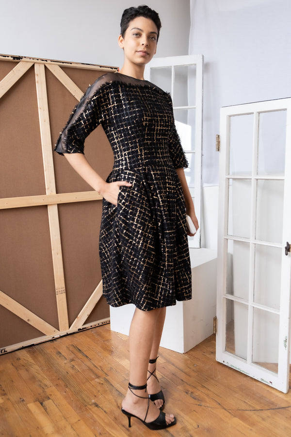Carolina Herrera Metallic Tweed Dress (Est. retail $2,590)