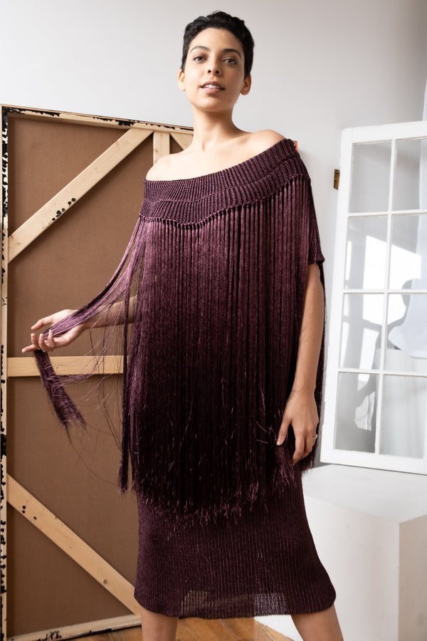 Julianna Bass 'Alyssa' Metallic Fringe Knit Dress (Est. retail $1,495)