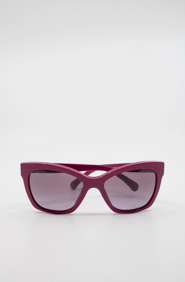 Chanel Pink Wayfarer Sunglasses