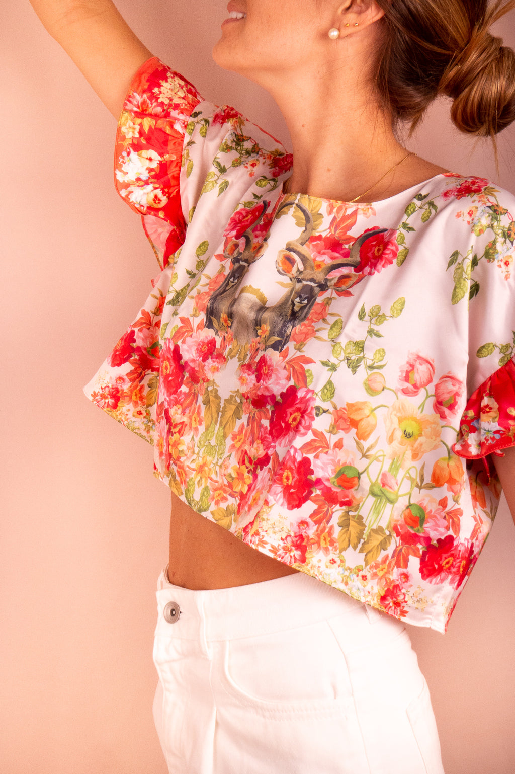 FLORES CROPPED TEE | COSTA LANGOSTA
