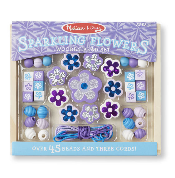 Sparkling Flowers Wooden Bead Set - Art and craft - [Little_Sotty]