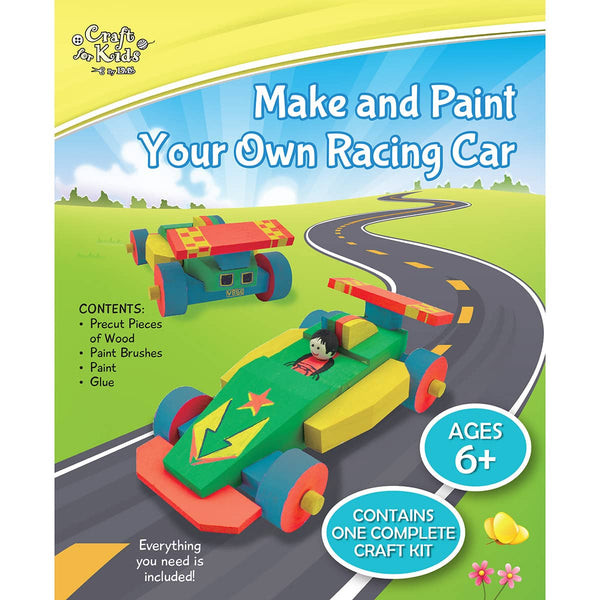 Make And Paint Your Own Racing Car - Art and craft - [Little_Sotty]