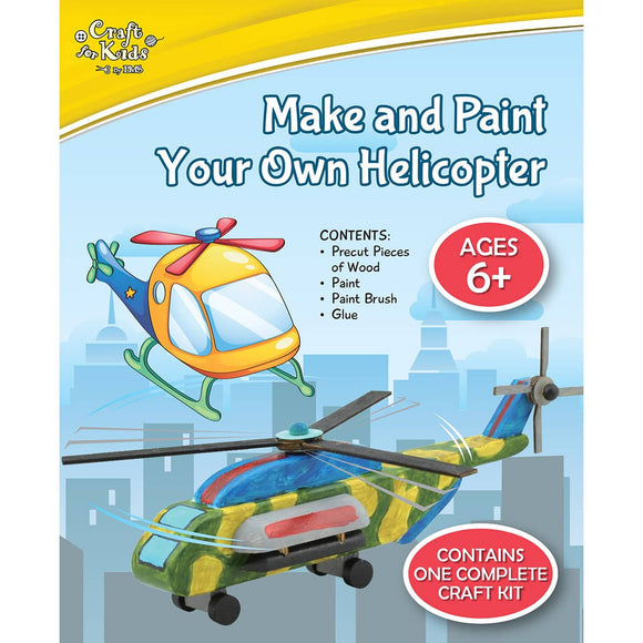 Make And Paint Your Own Helicopter - Art and craft - [Little_Sotty]