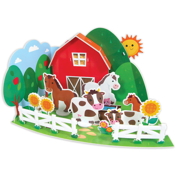 Make Your Own 3D Animal Parade - Farm yard - Art and craft - [Little_Sotty]