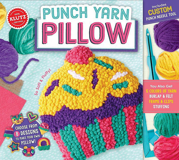 Punch Yarn Pillow - Art and craft - [Little_Sotty]