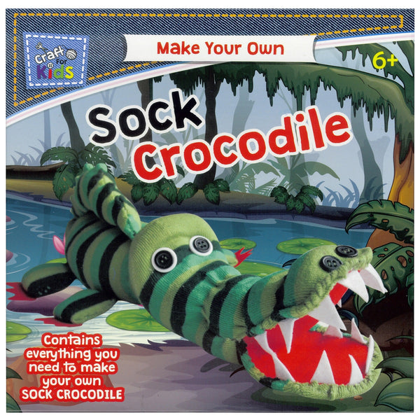 Make Your Own Sock Crocodile by Craft For Kids - Art and craft - [Little_Sotty]