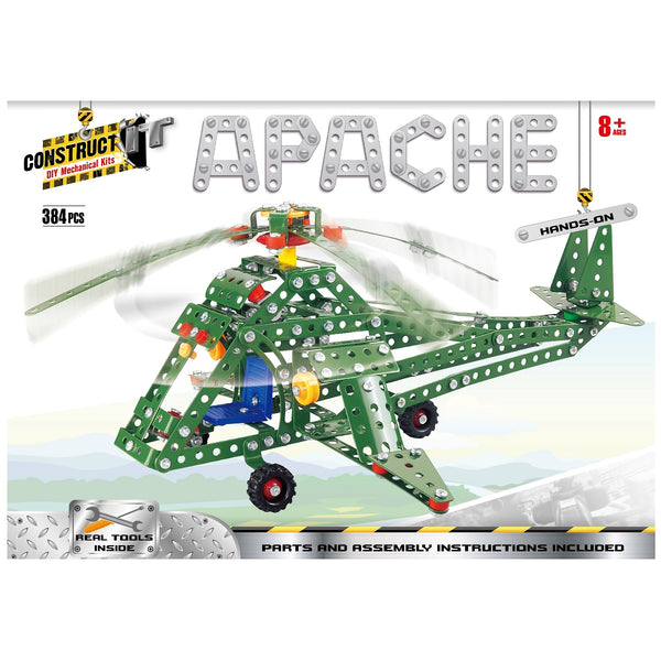 Construct-It DIY Mechanical Kit Helicopter Apache 384 Pieces - Engineering - [Little_Sotty]