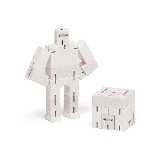 Cubebot Micro Ninja Robot Toy - white - Other fun stuff - [Little_Sotty]