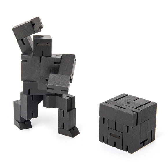 Cubebot Small Ninja Robot Toy - black - Other fun stuff - [Little_Sotty]