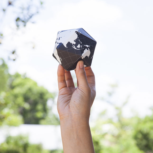 Dymaxion Folding Globe - black and white - Other fun stuff - [Little_Sotty]