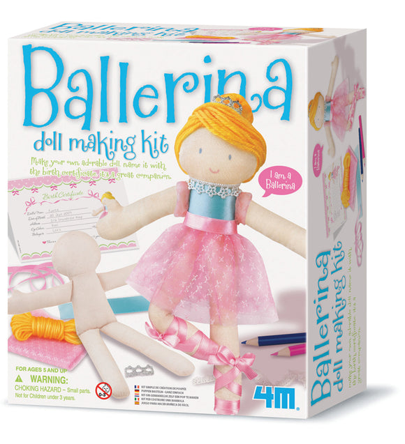 4M - Ballerina Doll Making Kit - Art and craft - [Little_Sotty]