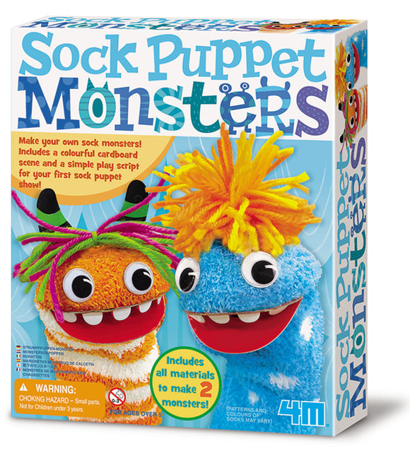 4M - Sock Puppet Monster - Art and craft - [Little_Sotty]