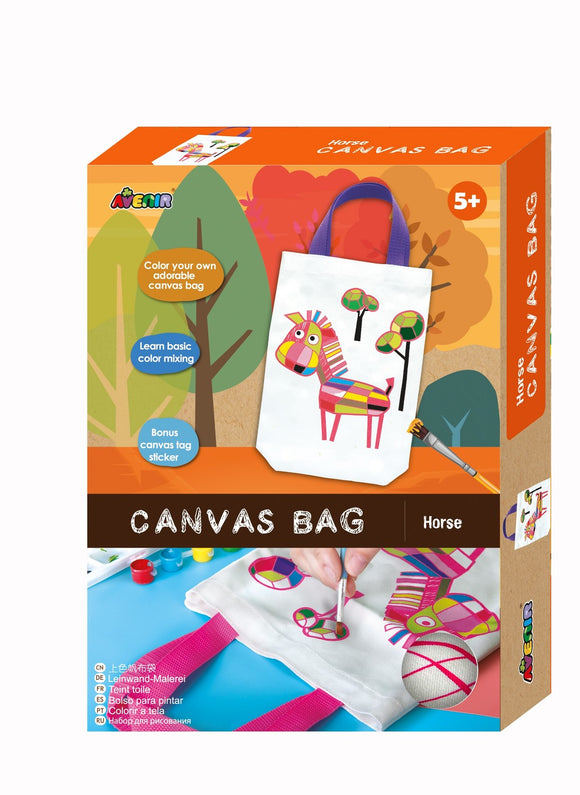 Avenir - Canvas Bag - Horse - Art and craft - [Little_Sotty]