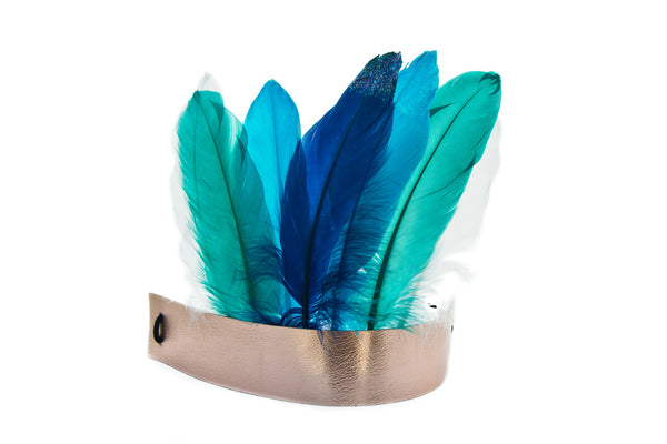 Make Your Own Feather Crown - Navy and darks - Art and craft - [Little_Sotty]