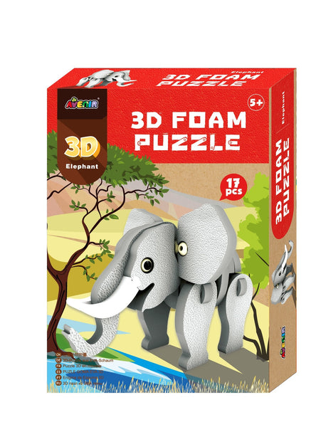 Avenir - 3D Foam Puzzle - Elephant - Art and craft - [Little_Sotty]