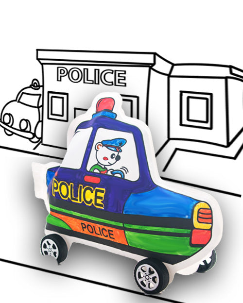Make Your Own Wheelies - Police Car - Art and craft - [Little_Sotty]